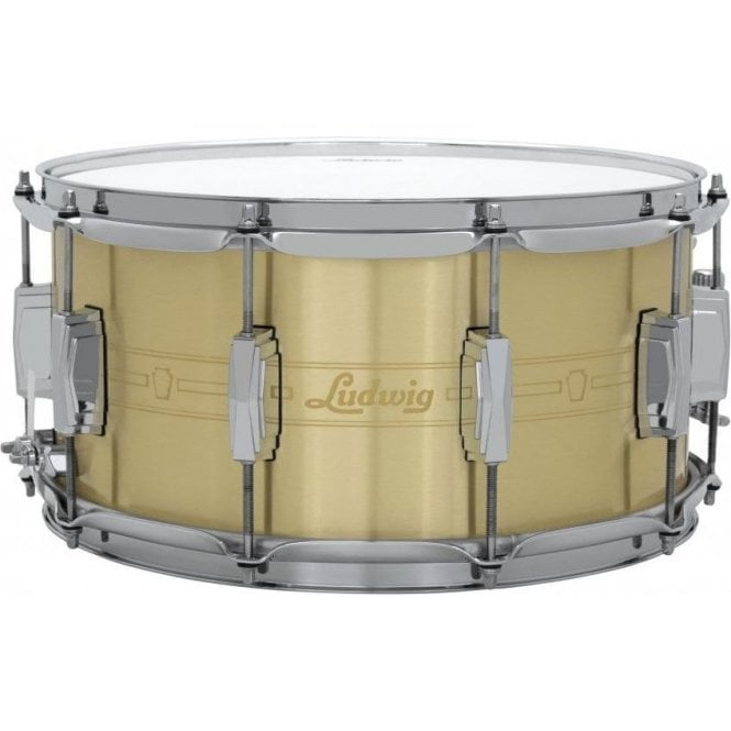 Ludwig 14x5.5 Heirloom Brass Snare Drum LBR5514 | Buy at Footesmusic