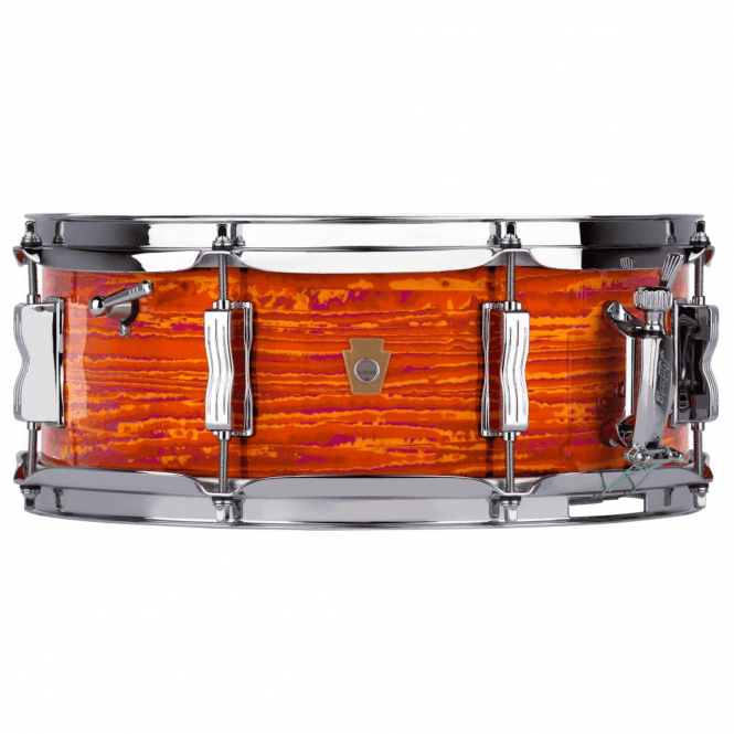 Ludwig 14x5.5 Jazz Festival Snare Drum - Mod Orange Finish LS90851 | Buy at Footesmusic