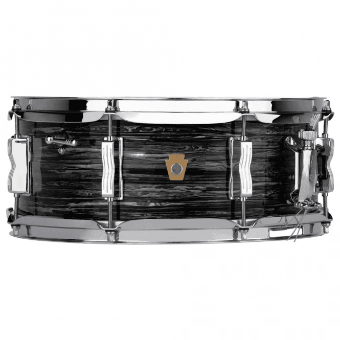 Ludwig 14x5.5 Jazz Festival Snare Drum - Vintage Black Oyster Finish LS9081Q | Buy at Footesmusic