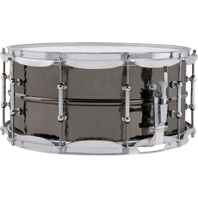 Ludwig 14x5 Black Beauty Hammered Supraphonic Snare Drum LB416K | Buy at Footesmusic