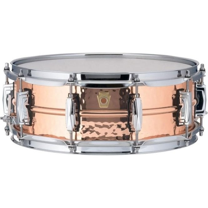 Ludwig 14x5 Hammered Copper Phonic Snare Drum - Imperial Lugs LC660K | Buy at Footesmusic