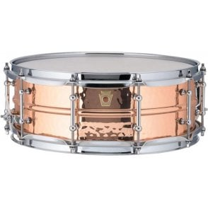Ludwig 14x5 Hammered Copper Phonic Snare Drum - Tube Lugs LC660KT | Buy at Footesmusic