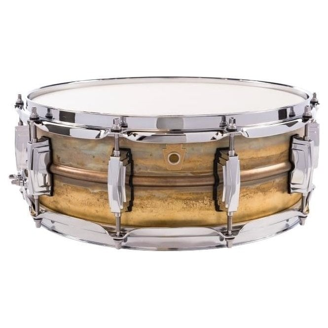 Ludwig 14x5 Raw Brass Shell Snare Drum LB454R | Buy at Footesmusic