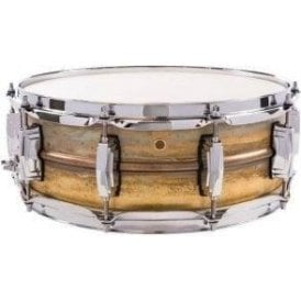 Ludwig 14x5 Raw Brass Shell Snare Drum