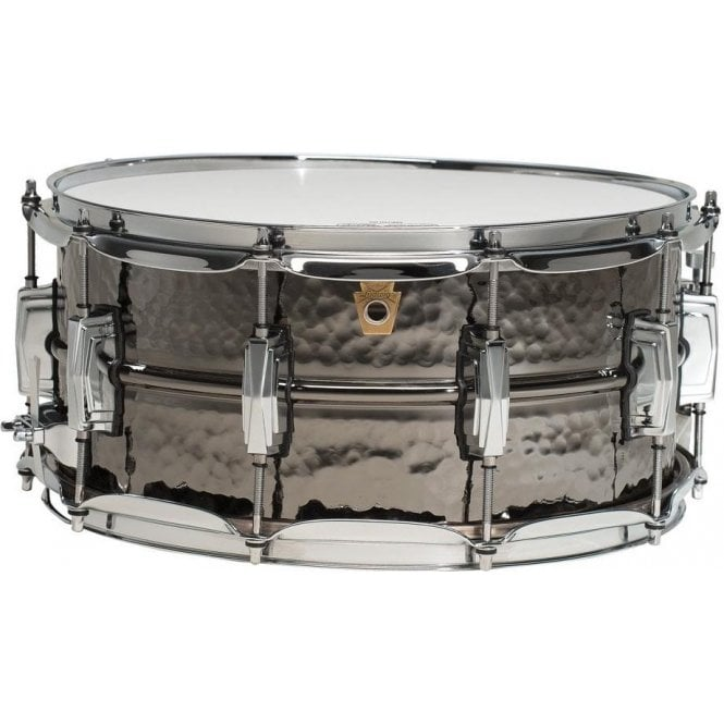 Ludwig 14x6.5 Black Beauty Hammered Supraphonic Snare Drum