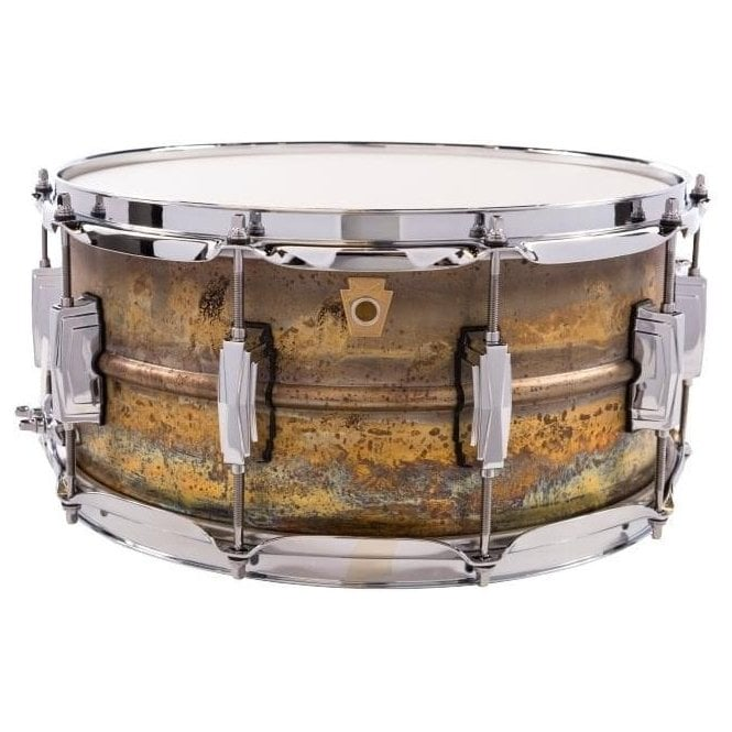 Ludwig 14x6.5 Raw Brass Shell Snare Drum LB464R | Buy at Footesmusic