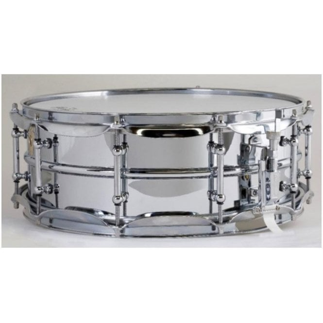 Ludwig 400 14x5 Chrome on Brass Supraphonic Snare Drum - Tube Lugs LB400BT | Buy at Footesmusic
