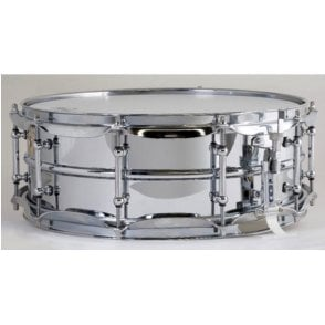 Ludwig 400 14x5 Chrome on Brass Supraphonic Snare Drum - Tube Lugs
