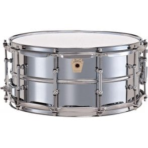 Ludwig 402 14x6.5 Chrome on Brass Supraphonic Snare Drum - Tube lugs