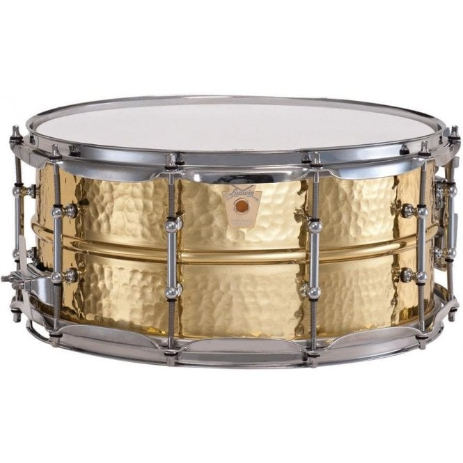 Ludwig Bronze 14 x 6.5 Hammered Supraphonic Snare Drum with Tube Lugs