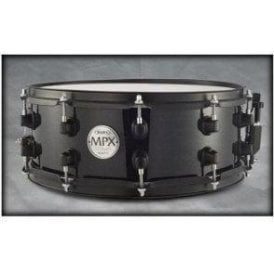 Mapex MPX 14x5.5 Maple Snare Drum Black with Black fittings MPML4550BMB | Buy at Footesmusic