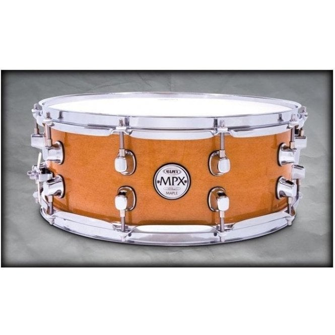 Mapex MPX 14x5.5 Maple Snare Drum Natural with Chrome MPML4550CNL | Buy at Footesmusic