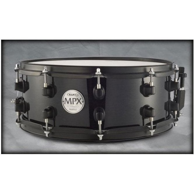 Mapex MPX 14x6.5 Maple Snare Drum Black with Black fittings