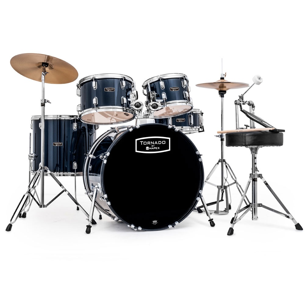 mapex tornado drum kit with cymbals buy at footesmusic. Black Bedroom Furniture Sets. Home Design Ideas
