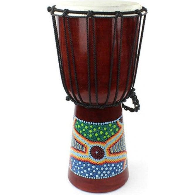 "Medium Djembe - 9"" Painted Finish"