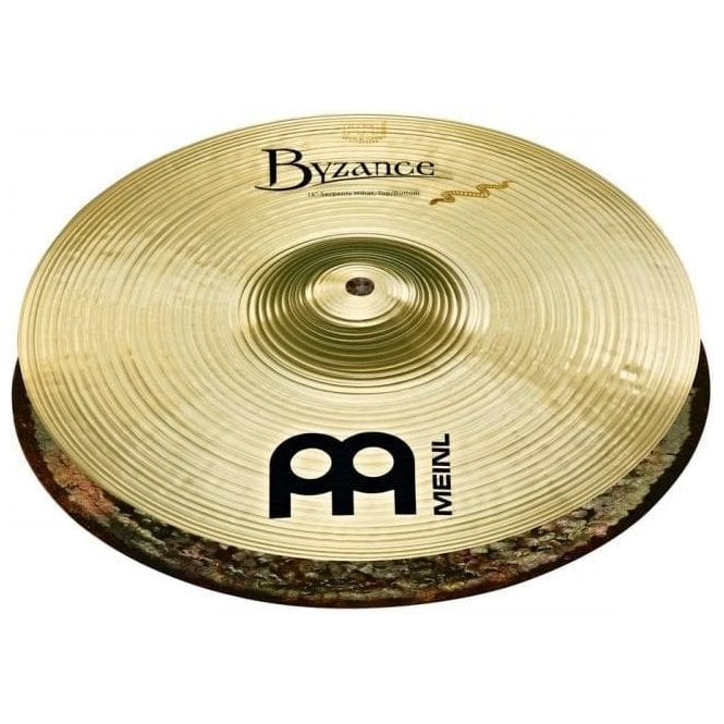"Meinl Byzance Brilliant Serpent 14"" Hi Hat Cymbals B14SHB 