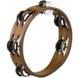 "Meinl CTA2WB Compact 8"" Tambourine - Walnut With Steel Jingles"