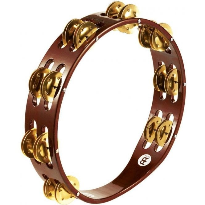 Meinl TA2BAB Tambourine Double Row Brass Jingles | Buy at Footesmusic