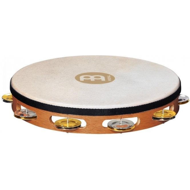 Meinl TAH1MSNT Tambourine - Headed Single Row Dual Alloy Recording Combo Jingles