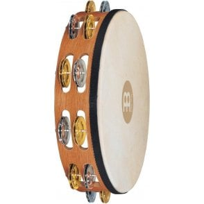 Meinl TAH2MSNT Tambourine Headed Double Row Dual Alloy Recording Combo Jingles | Buy at Footesmusic