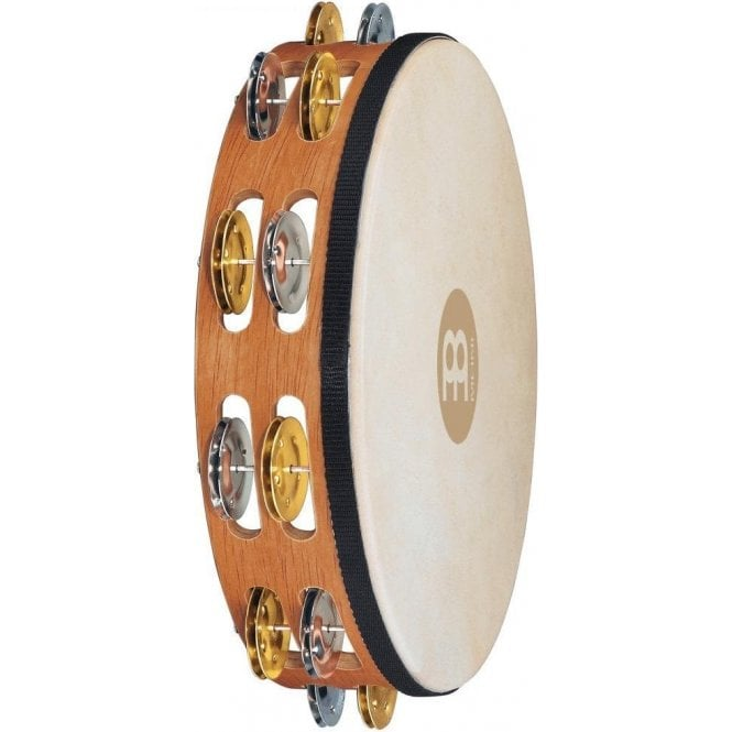 Meinl TAH2MSNT Tambourine - Headed Double Row Dual Alloy Recording Combo Jingles