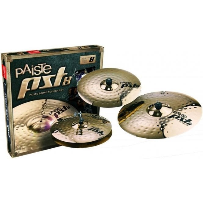 Paiste PST 8 Reflector Rock Cymbal Set (14/16/20) PST8BS3RSET | Buy at Footesmusic