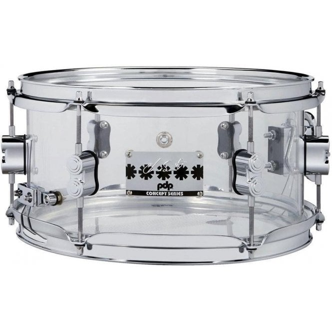 PDP by DW 12x6 Chad Smith Model Clear Acrylic Snare Drum