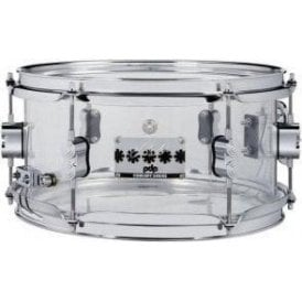 PDP by DW 12x6 Chad Smith Model Clear Acrylic Snare Drum PDSN0612SSCS | Buy at Footesmusic