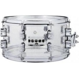 PDP by DW 13x7 Chad Smith Model Clear Acrylic Snare Drum PDSN0713SSCS | Buy at Footesmusic