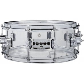 PDP by DW 14x6.5 Chad Smith Model Clear Acrylic Snare Drum