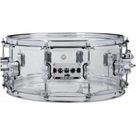 PDP by DW 14x6.5 Chad Smith Model Clear Acrylic Snare Drum PDSN0614SSCS | Buy at Footesmusic