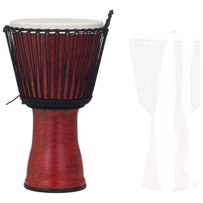 "Pearl 10"" Djembe Rope Tuned - Molten Scarlet Finish"