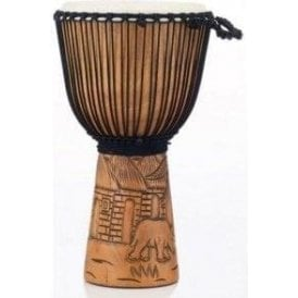 "Pearl 12"" Djembe Rope Tuned - Malinke Carved Finish"