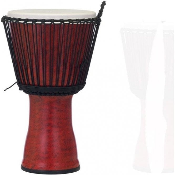 "Pearl Drums Pearl 12"" Djembe Rope Tuned - Molten Scarlet Finish"