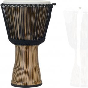 "Pearl 12"" Djembe Rope Tuned - Zebra Grass Finish"