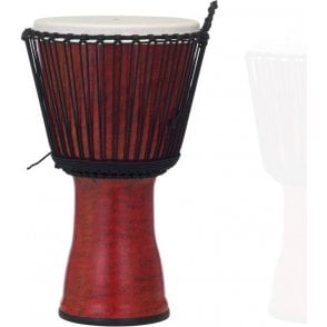 "Pearl 14"" Djembe Rope Tuned - Molten Scarlet Finish"