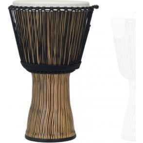 "Pearl 14"" Djembe Rope Tuned Zebra Grass Finish PBJVR14698 