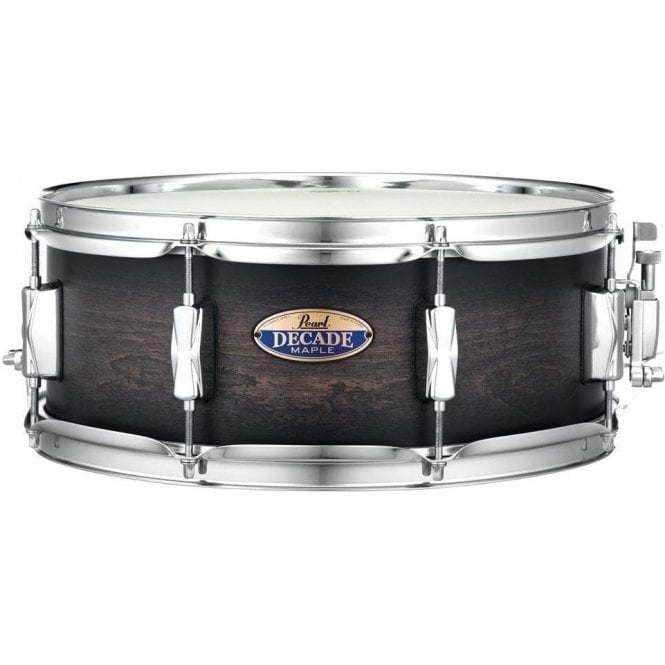 Pearl 14x5.5 Decade Maple Snare Drum Satin Black Burst DMP1455SC262 | Buy at Footesmusic