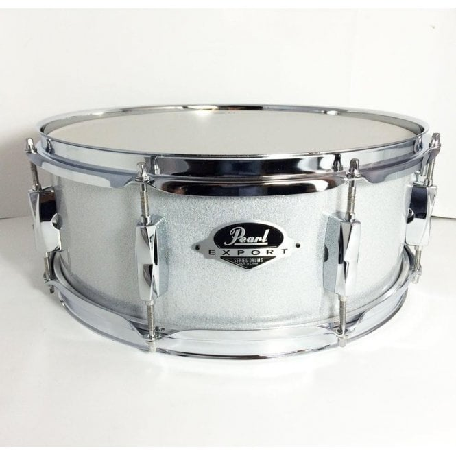 Pearl Drums Pearl 14x5.5 Export Snare Drum Arctic White Sparkle