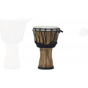 "Pearl 7"" Djembe Rope Tuned - Zebra Grass Finish"