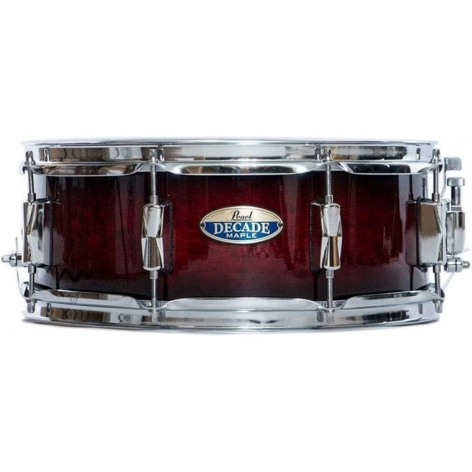 Pearl 14x5.5 Decade Maple Snare Drum Deep Red Burst