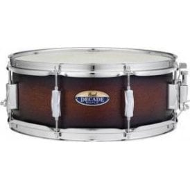 Pearl 14x5.5 Decade Maple Snare Drum Satin Brown Burst