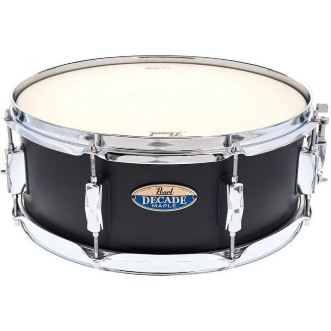Pearl 14x5.5 Decade Maple Snare Drum Satin Slate Black
