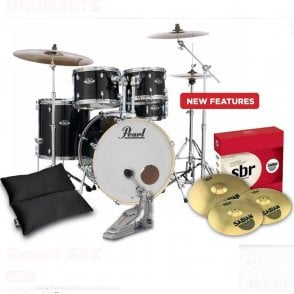 Pearl Export Drum Kit With Sabian SBR Cymbals (or without)