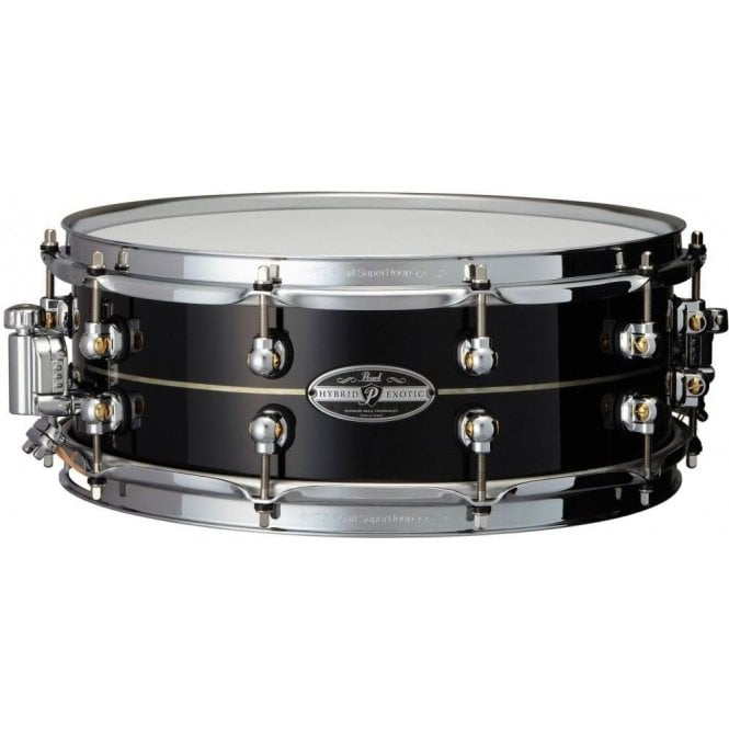Pearl Drums Pearl Hybrid Exotic 14x5 Kapur Fibregalss Aluminium Snare Drums