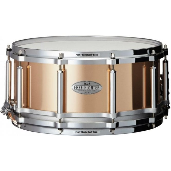 Pearl Task Specific 14x6.5 Free Floating Bronze Snare Drum