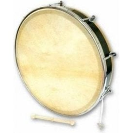 "Percussion Plus Tuneable Bodhran 18"" Plain with Book, Bag & Tipper"