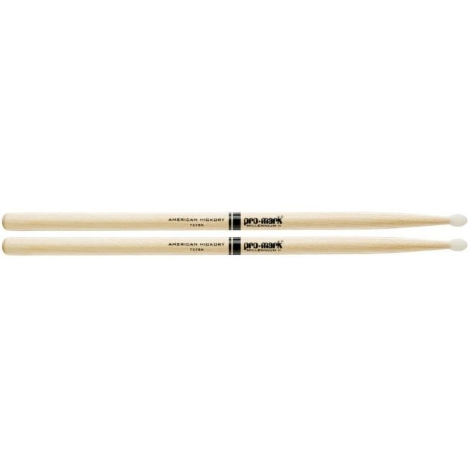 Promark Hickory 2B Nylon Tip Drum Sticks (pair)