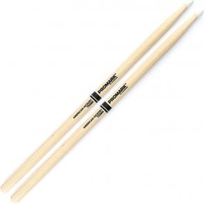 Promark Hickory 5B Nylon Tip Drum Sticks (pair)