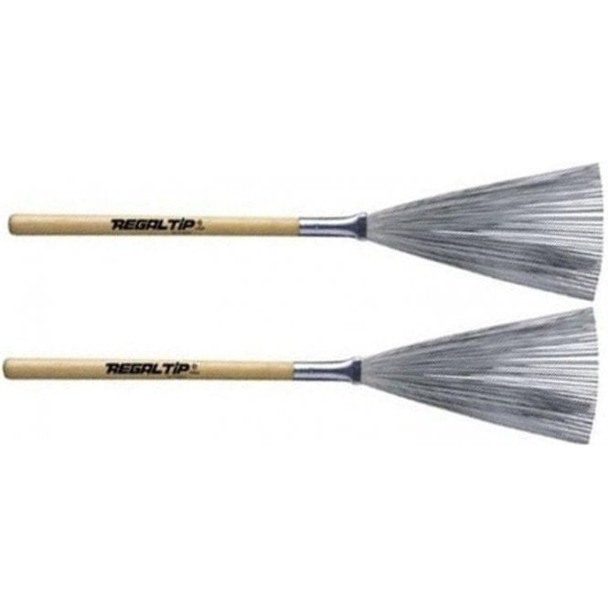 Regal Tip 550W Fixed Hickory Handle - Wire Brushes (pair)